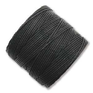 Black - Bead Cord / S-Lon Size: 0.5mm (per meter)