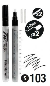 FW MARKER SET of 2 by DALER ROWNEY   |  1-2mm ROUND NIBS
