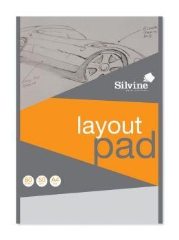 SILVINE LAYOUT PAD A4 50gsm