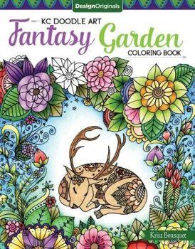 KC Doodle Art Fantasy Garden Colouring Book