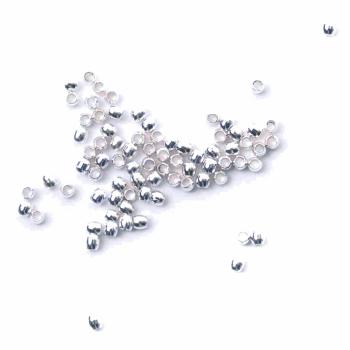 Crimp Beads: Silver: 2mm