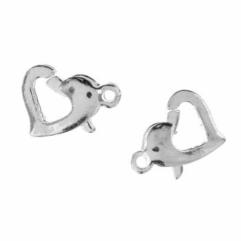 Trigger Clasp: Heart: Silver