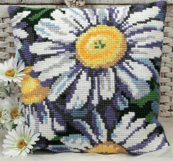 Cross Stitch Kit: Cushion: Marguerites