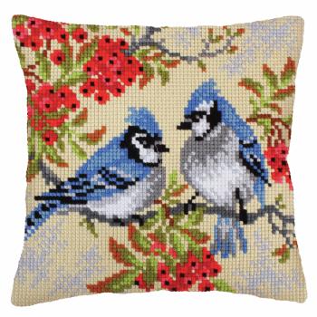 Cross Stitch Kit: Cushion: Blue Jays