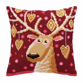 Cross Stitch Kit: Cushion: Christmas Gingerbreads