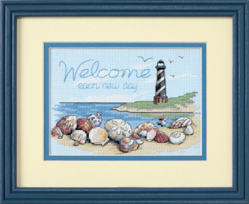 Mini Counted Cross Stitch Kit: Welcome Each New Day