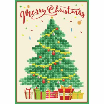 Diamond Painting Kit: Greeting Card Kit: Merry Christmas Tree