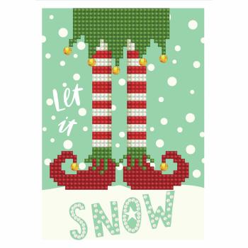 Diamond Painting Kit: Greeting Card Kit: Let it Snow: