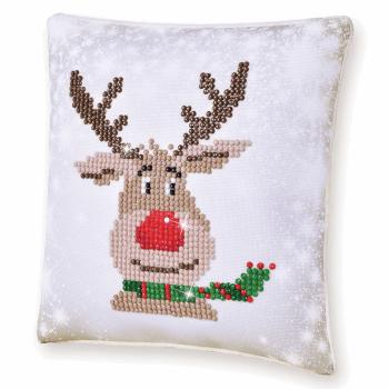 Diamond Painting Kit: Cushion: Christmas Reindeer
