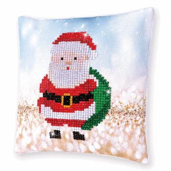 Diamond Painting Kit: Cushion: Santa Claus