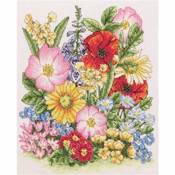 Cross Stitch Kit: Meadow Flowers