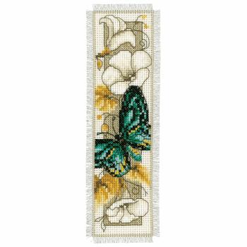 Cross Stitch Kit: Bookmark: Butterfly