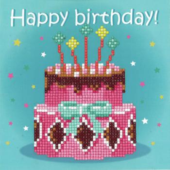 Diamond Painting: Greeting Card Kit: Birthday Cake