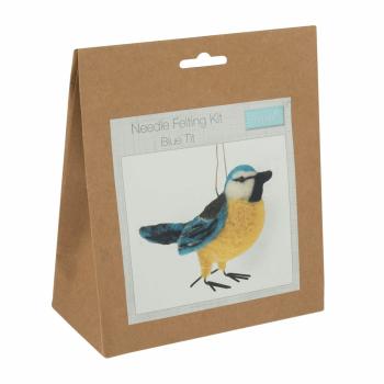 Needle Felting Kit: Blue Tit
