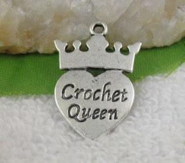Crochet Queen Charm