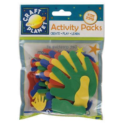 Foam Hand & Feet Shapes - Assorted colours