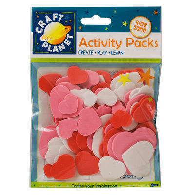 Foam Hearts - Pink, red & white