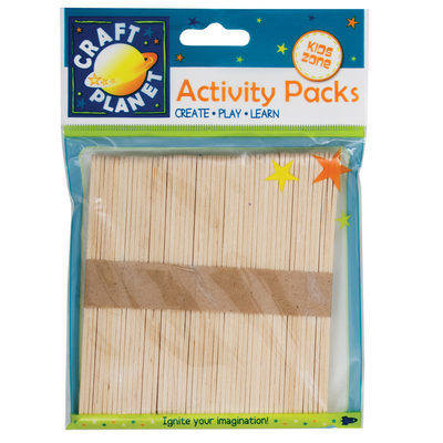 Lollipop Sticks (50pcs) - Natural