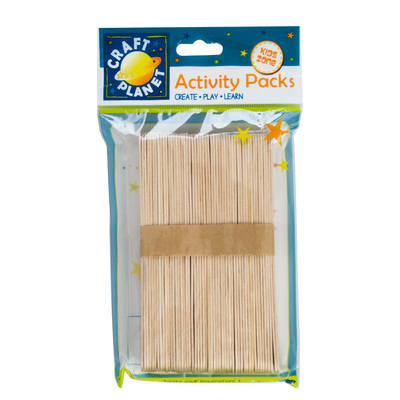 Lollipop Sticks (50pcs) - Natural (Extra Large)