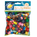 Wooden Beads (100g) - Assorted Colours