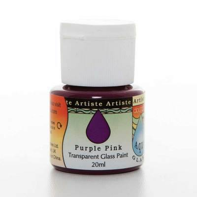 Glass Paint 20ml, Aqua Glass - Purple Pink