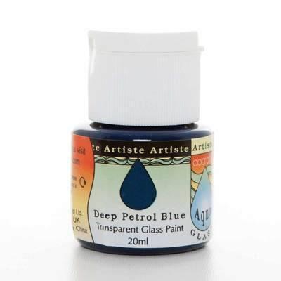 Glass Paint 20ml, Aqua Glass - Deep Petrol Blue