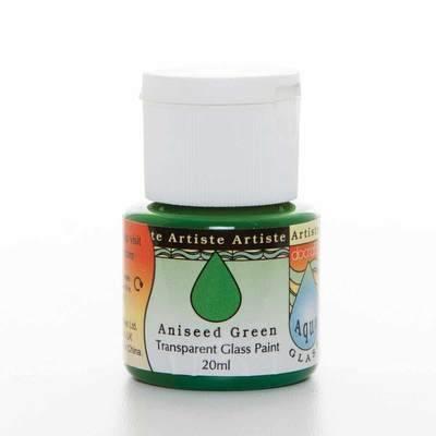 Glass Paint 20ml, Aqua Glass - Aniseed Green