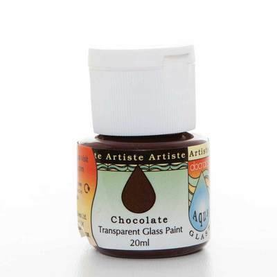 Glass Paint 20ml, Aqua Glass - Chocolate
