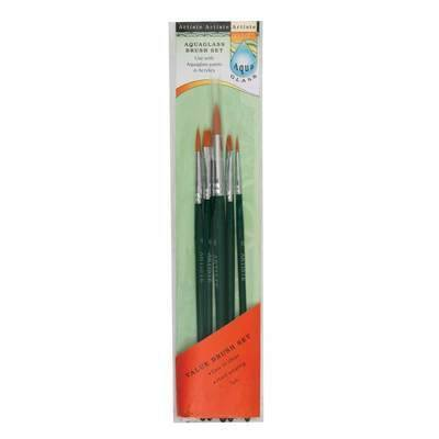 Brush Set, Aqua Glass - Value