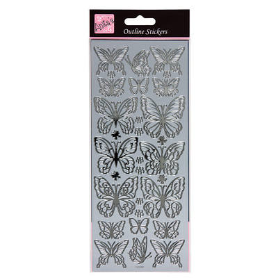 Outline Stickers - Wistful Wings - Silver