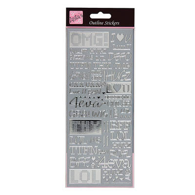 Outline Stickers - Text Speak - Silver