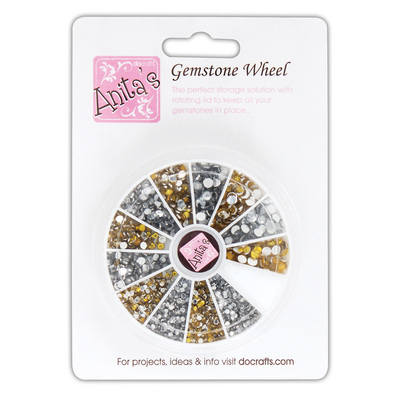 Gemstone Wheel - Gold & Silver