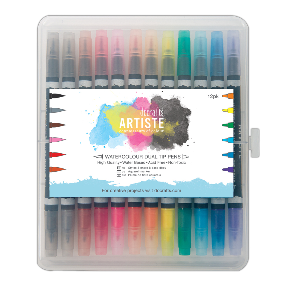 Watercolour dual tip pens