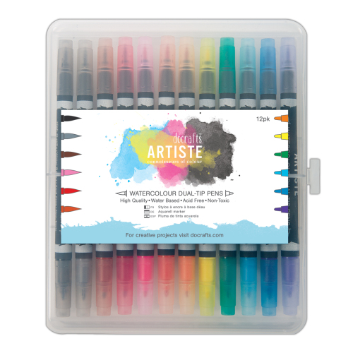 docrafts Artiste Watercolour dual tip pens