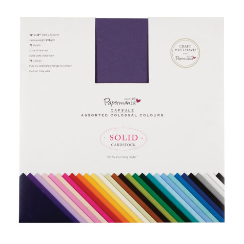 Cardstock Assorted Colossal Colours - 75pk (12x12)