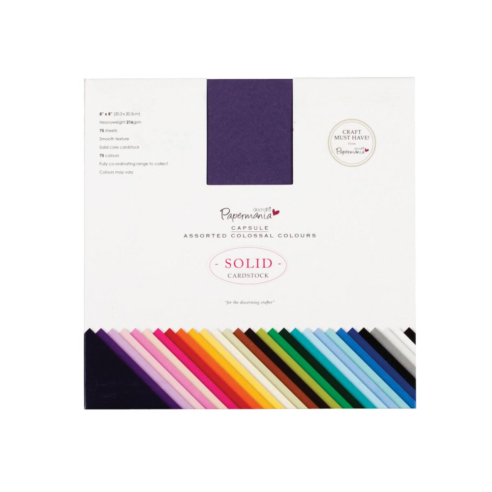 Cardstock Assorted colossal Colours - 75pk (8x8)