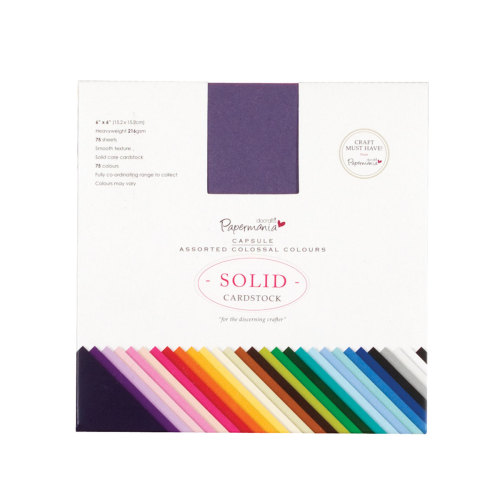 Cardstock Assorted Colossal Colours - 75pk (6x6)