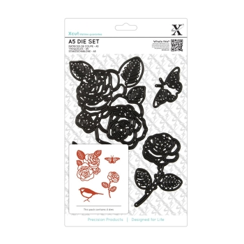 A5 Die Set (4pcs) - Rose
