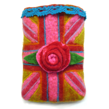 Wet Felted Phone Cover Kit - Queen of Conversation