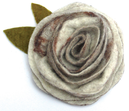 Felting Corsage Kit - Sweet Sepia