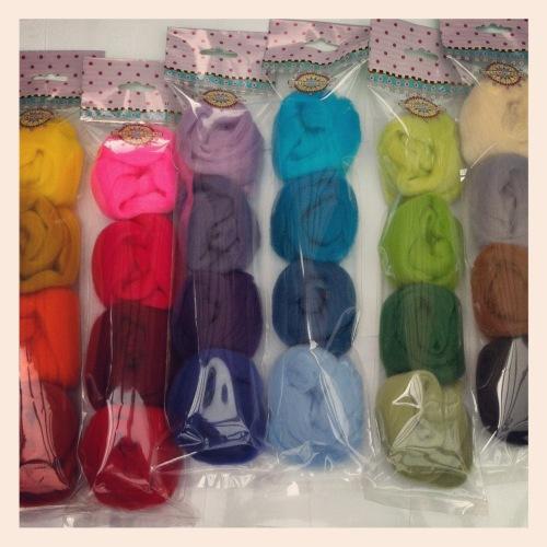 Mixed Merino Wool Tops 25g wool Purples
