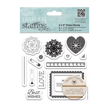 """5 x 5"""" Urban Stamp (14pcs) Craft Collections - Pastels"""
