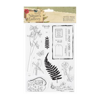 A5 Clear Stamps Set (18pcs) - Nature's Gallery