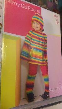 8741 - Poncho & Hat - Merry Go Round DK *knitting Pattern