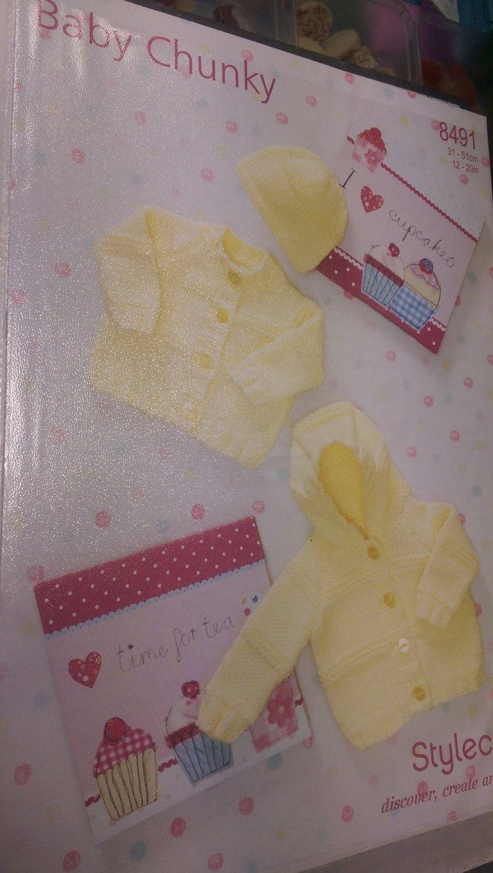8491 - Cardigans & Hat - Baby Chunky *Knitting Pattern