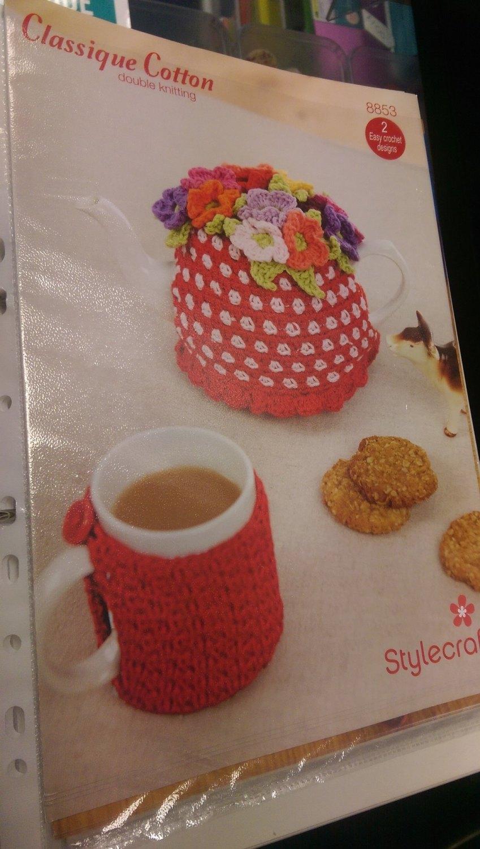 8853 - Mug & Tea Cosie - DK *Crochet Pattern