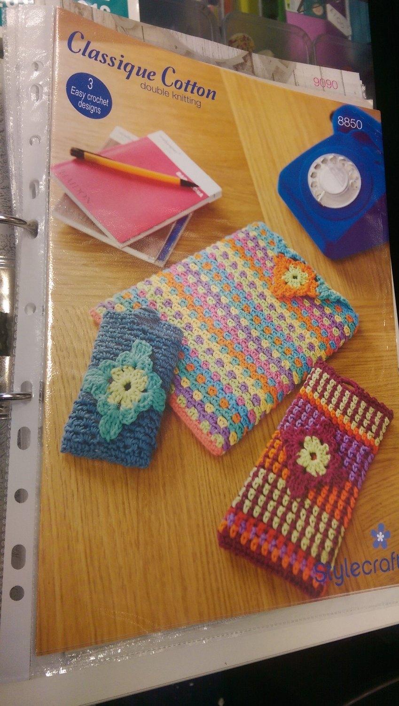 8850 - Phone & Ipad Cover - DK *Crochet Pattern