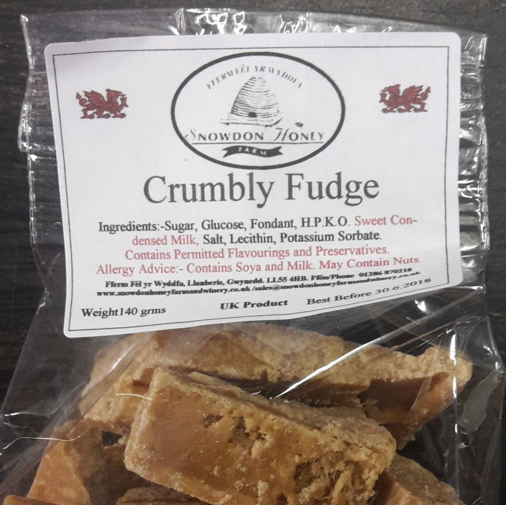 Welsh Crumbly Fudge Bag