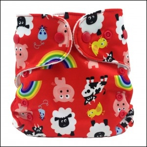 NEW!! Wonderoo V3 PUL nappy (farm)