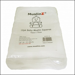 Muslinz white muslin squares (12 pack; white)